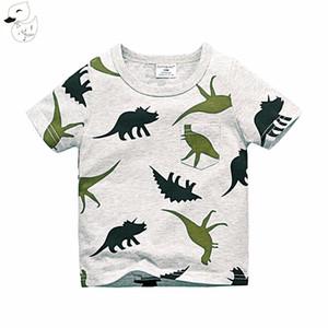 الفتيان قصيرة الأكمام تي شيرت الصيف قميص كيد الطفل ملابس الأطفال الكابتن المراس الديناصور المطبوعة تي شيرت مصنع تكلفة رخيصة بالجملة