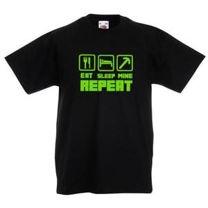 Eat Sleep Mine T-Shirt Tshirt-free postage الذين تتراوح أعمارهم بين 5-13 MINECTAFT WRISTBAND المجاني