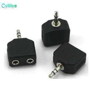 Sıcak satış 3.5mm Jack 1 2 Çift Kulaklık Kulaklık Y Splitter Kablo Adaptörü Tak telefonu için bilgisayar MP3 için