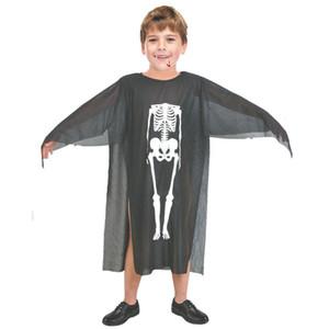 Costumi di Halloween Skull Skeleton Mostro Demone Fantasma Spaventoso Costume Vestiti Robe per adulti Uomini Donne Bambini Bambini Cosplay