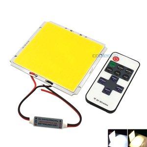 100 * 95 milímetros Praça COB Chip LED Light Painel com Dimmer Controlador 50W DC 12V Dimmable Lâmpada LED para lâmpadas de trabalho carro iluminação Casa DIY