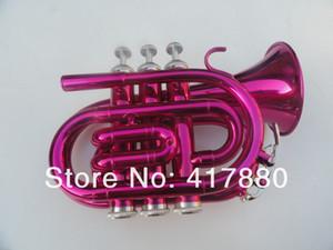 Tromba Pocket Rose Red Bb che cade B Tune Tromba strumento musicale per studenti con custodia Spedizione gratuita