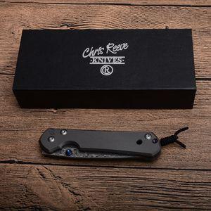 Nouveau CR Sebenza Petit couteau pliant en acier Damas Lame TC4 en alliage de titane cadre de verrouillage EDC Couteaux de poche