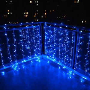 Toptan 10 M x 2 M 640 leds icicle led perde dize peri işık 640 ampul Xmas Noel Düğün ev bahçe partisi çelenk dekor 110 V 220 V