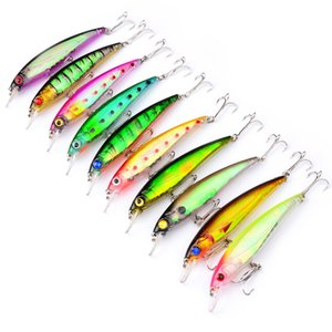 100pcs Fishing Lure 11cm 13g Minnow Wobbler Hard Bait Fishing Tackle