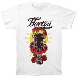 Reverend Horton Heat Guitar Snake White T Shirt Maglietta bianca manica corta Marchio stampato T Shirt da uomo Vestiti larghi