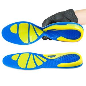 Diseño único Gel de silicona Plantillas deportivas Cuidado de los pies Fascitis plantar Talón Spur Correr Plantilla deportiva Almohadillas de absorción de choque