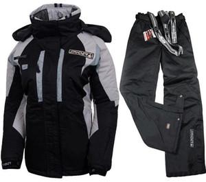 Combinaisons de ski féminin veste de snowboard et pantalons pour femmes hiver gardent les vestes de ski skiwear costume femmes