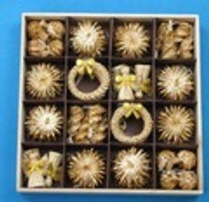 Neue Weihnachtsdekoration Christbaumschmuck 56pcs Straw Woven-Festival-Dekoration Crafts Snowflake-Puppe-Spielzeug