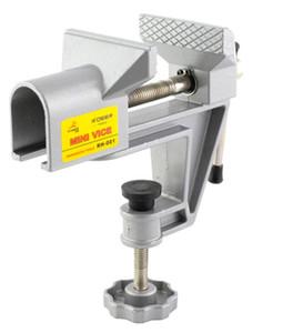 Freeshipping Mini Bench Vise Universal Machine Milling Vise Aleación de aluminio Reparación fija Herramienta Tornillo de mesa para herramientas de mano DIY