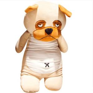 Jouet en peluche husky doux de bande dessinée pop bourré anime Shiba Inu Bulldog Pugs animaux poupée teckel cadeau oreiller pour les enfants 31 pouces 80 cm DY61956