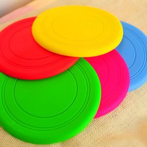 Pet silikon Frizbi, çok renkli Frizbi, köpek oyuncak