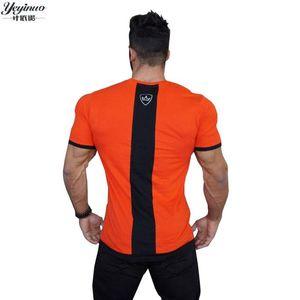 Summer Fashion Men's Casual T Shirt Patchwork Short Sleeve T Shirt Mens Clothing Trend Casual Slim Fit Hip-Hop T Shirt