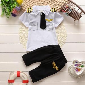 neue Artkleidungsklage childern Babysommerkleidung stellt Baumwollkindbindungsherr-Ausstattungskleidungssatzklage ein
