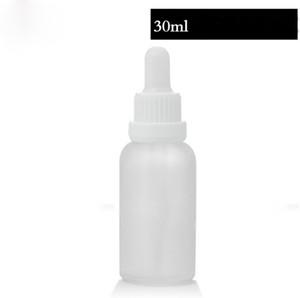 Billiger Preis E-flüssiges wesentliches Öl Tropfpipette bereifte weißes freies Glas füllt 30ml mit Überwurfs-Kappe 440pcs los Freies Verschiffen