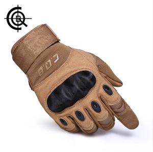 CQB Outdoor Tactical Gloves Full Finger Sport Escursionismo Equitazione Ciclismo Militare Guanti uomo Armatura Protezione Shell Guanti ST0055