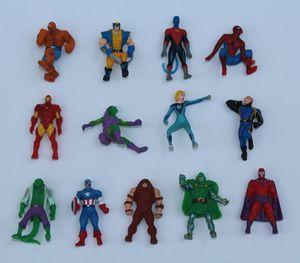 The Avengers Mini Figuras de Ação Gashapon Capsule Toys super-herói Homem-Aranha de Ferro Capitão Mini Figuras presentes Crianças Natal Twisting Brinquedos