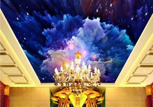 3d masaüstü duvar kağıdı Suluboya Sky Otel tavan KTV Zenith fresk resimleri 3d fotoğraf kağıdı