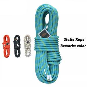 Corda di sopravvivenza esterna di sicurezza professionale 6/8 / 10.5 / 12mm Corda statica di nylon di alta qualità Corda rampicante Materiale di nylon Attrezzatura di arrampicata