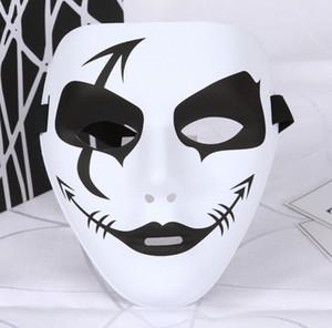 Masque d'Halloween Blanc Masque De Danse Hiphop Masques De Mascarade Plain Blanc Noir