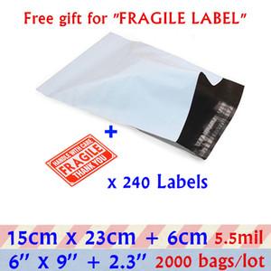 15x23cm Blanco Pequeño embalaje Envoltura bolsa de sobres 6X9'Gray Autoadhesivo adhesivo Poly Mailer sobres de plástico bolsas de correo