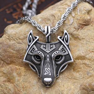 Youe shone 5 Couleurs 1 pcs Vikings Norse Collier Pendentif Norse Wolf Loup Collier D'origine Animal Bijoux Wolf Head hange
