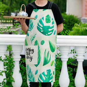 نمط الغابات المطيرة الطبخ المريلة مضحك الجدة شواء حزب المئزر المجردة الرجال النساء القط صفيق أوراق النبات الطبخ المريلة