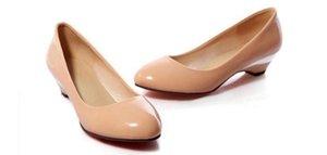 Envío gratis Hot 2018 Low heel big code mujer zapatos sueltos talón zapatos