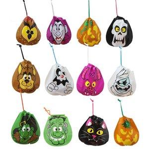6 pçs / set Halloween Sacos de Doces Doçura ou travessura Saco Abóbora Gato Do Crânio Decorações de Halloween das Crianças Doces Sacos de Festa Portátil Suprimentos