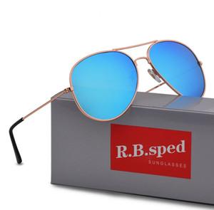 Diseñador de la marca Gafas de sol polarizadas Classic Pilot Gafas de sol para hombres Mujeres Gafas de conducción UV400 Marco de metal Flash Espejo polaroid Lense