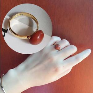 Natural ágata vermelha anel vintage tribunal índice rubi