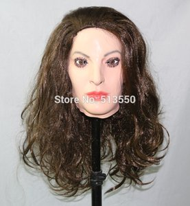 halloween figure dance party and masquerade masks realistic female mask