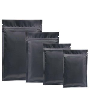 Black Plastic mylar bags Aluminum Foil Zipper Bag for Long Term food storage and collectibles protection two side colored