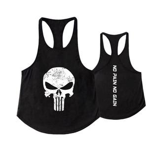 2018 Uomini Gym Skull Tank Top Uomo Vegeta Bodybuilding Abbigliamento Estate Fitness Uomo Outdoor Vest Canotta Stringer Canotta senza maniche