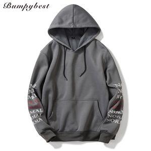 Bumpybeast 2018 Herbst Winter New Hoodie Männer Russland / US Größe Mens Hoodies Sweatshirt männlichen Hip Hop Brief Drucken Sweatshirt WY29