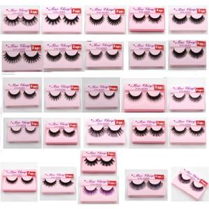 Supernatural lebensechte handgemachte falsche Wimpern 3D Nerz Wimpern dicke gefälschte Wimpern Fake Makeup Extension Tool 26Styles