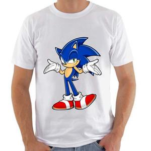 Topjini Artı Boyutu Harajuku Tshirt Sonic the Hedgehog Baskı T Gömlek Erkekler Kısa Kollu O-Boyun komik T-Shirt 6XL Tops 5XL