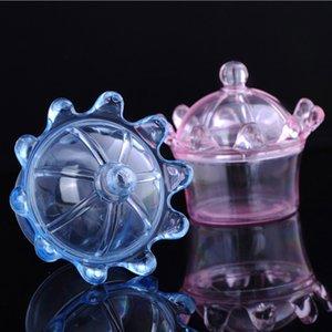 Wholesale 36 PCS Lot Plastic Crown Transparent Candy Box Chocolate Storage Box Baby Shower Wedding Gift