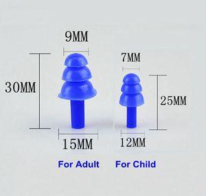 20 زوج / وحدة ساديل سيليكون سيليكون لينة عزل الصوت مقايعات للماء للطفل الكبار مكافحة الضوضاء للسباحة الغوص الضوضاء الحد
