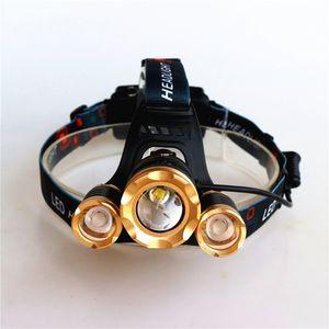 NOVA 10000lm XML-3xT6 iluminação Ao Ar Livre Recarregável Zoomable Lanterna Farol LEVOU Lanterna ZOOM Luz 18650 Bateria Car usb Charger