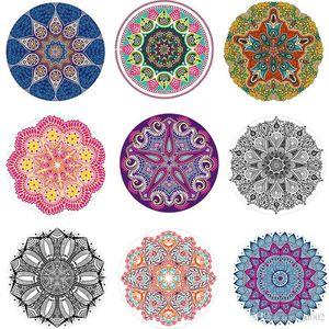 Fleur Mandara Serviette de plage de pissenlit forme pare-soleil pour Lady Châle coloré Yoga Impression 3D Tapis Tenture de ZZ Tapestry Fashion