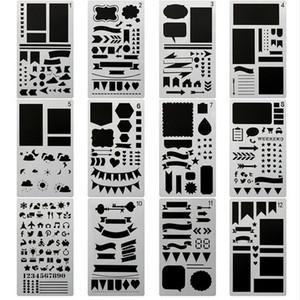 20 teile / satz Bullet Journal Stencil Set, DIY Malerei Zeichnung Spritzen Vorlagen für Notebook Tagebuch Sammelalbum Planer Zeitplan Handwerksprojekte