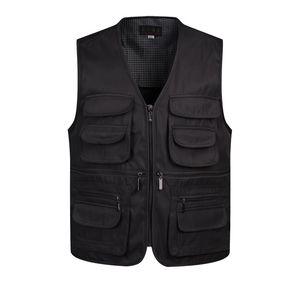V Yaka Adam Yelek Kolsuz Boşaltma Moda Yelek Birçok Erkek Ceket Cepler ile Askeri Ceket Erkek Taktik Yelek Tişörtü XL-3XL