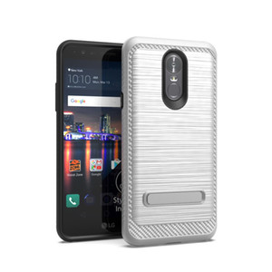 Armor Hybrid Metal Brushed Case With Kichstand For Alcatel 7 Folio LG Stylo 4 Premier Pro LTE Phoenix Plus X410AS K30 TPU PC Phone cover