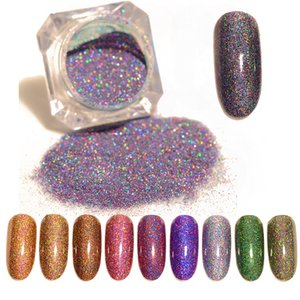 BORN PRETTY Starry Holographic Laser Nail Glitter  Holo Dust Manicure Nail Art Glitter  Decoration
