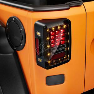 Freies verschiffen paar offroad Wrangler JK LED rücklicht blinker rückwärtsbremse bernsteinfarbenes rotes licht in einem für auto auto 4x4 JK 07-15 fahrzeuge