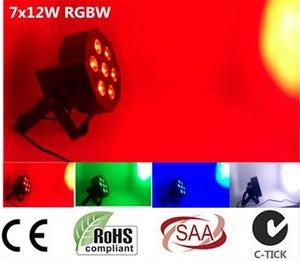 CREE LED Par 7x12W RGBW 4IN1 4/8 Kanallar Düz Par ışıkları Led Lüks DMX LED