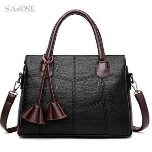 Women PU Leather Handbags Ladies Fashion Tassel High Quality Simplicity Casual Tote Bags Female Messenger Shoulder Bags