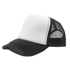 13 Cor Moda Verão Vermelho Preto Plain Trucker Mesh Hat Snapback Boné de Beisebol Em Branco Tamanho Ajustável