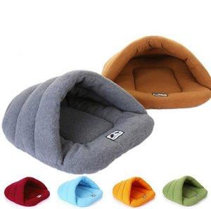 ¡Caliente! Pet Cat Bed Small Dog Puppy Kennel Sofa Polar Fleece Material Cama Pet Cat Cat House Cat Saco de dormir Warm Nest High Quality